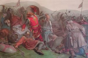 Olav den Helliges død. Maleri av Peter Nicolai Arbo