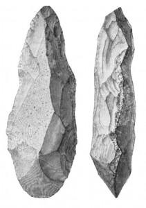 Flintøks fra Steinalder (Bilde fra Wikipedia og lisensert under Public Domain)