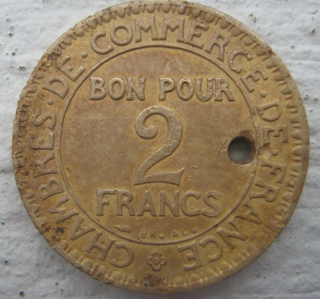 2 francs 1923 norges metalls kerforening museum for Chambre de commerce de france bon pour 2 francs 1923