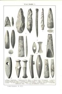 Funn fra Steinalderen. Bildet fra Wikipedia og lisensiert under Public Domain)